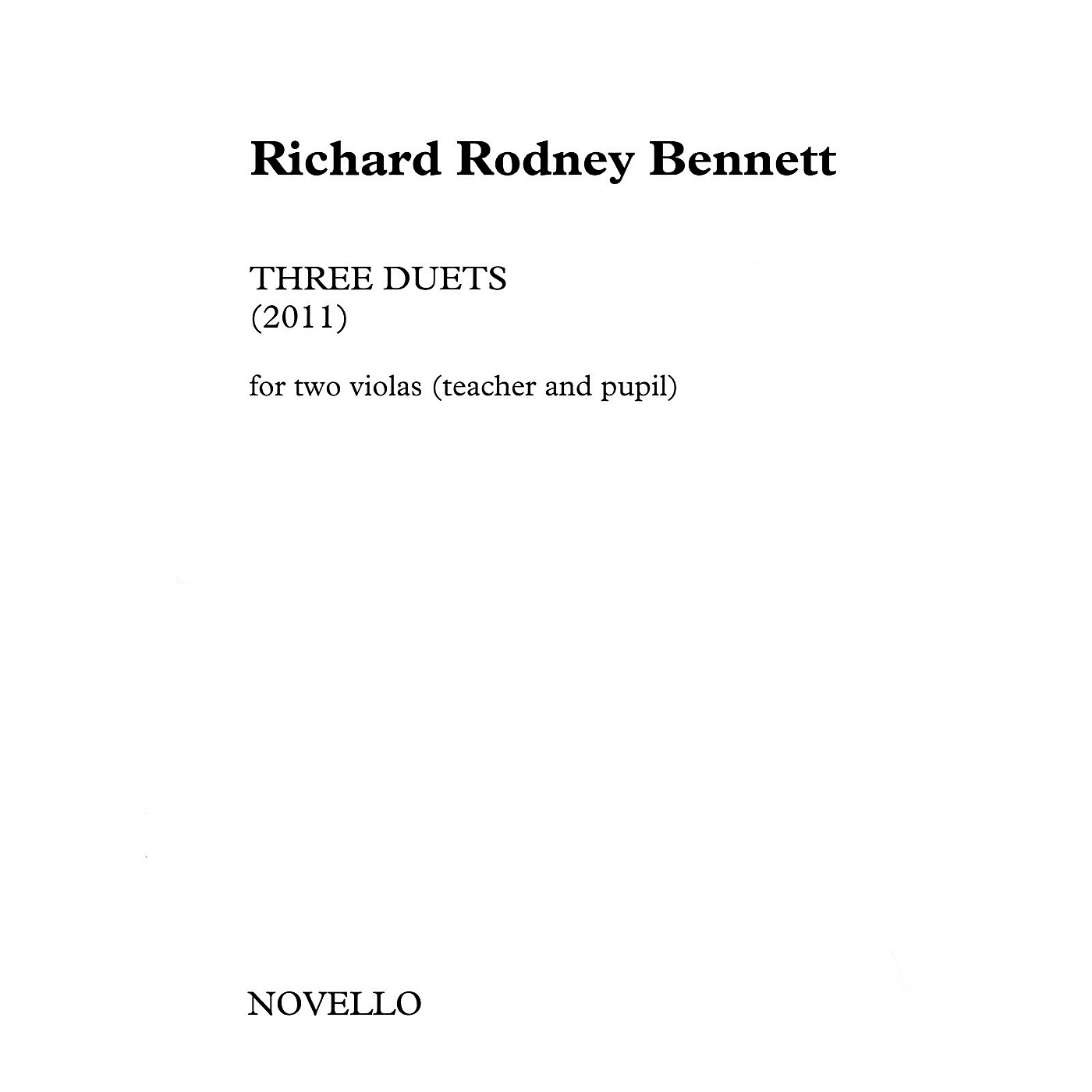 Novello Three Duets for Two Violas (Teacher and Pupil) Music Sales America Softcover by Richard Rodney Bennett thumbnail