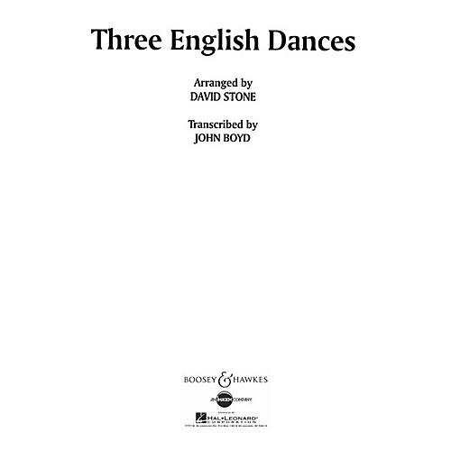 Boosey and Hawkes Three English Dances Concert Band Composed by David Stone Arranged by John Boyd thumbnail