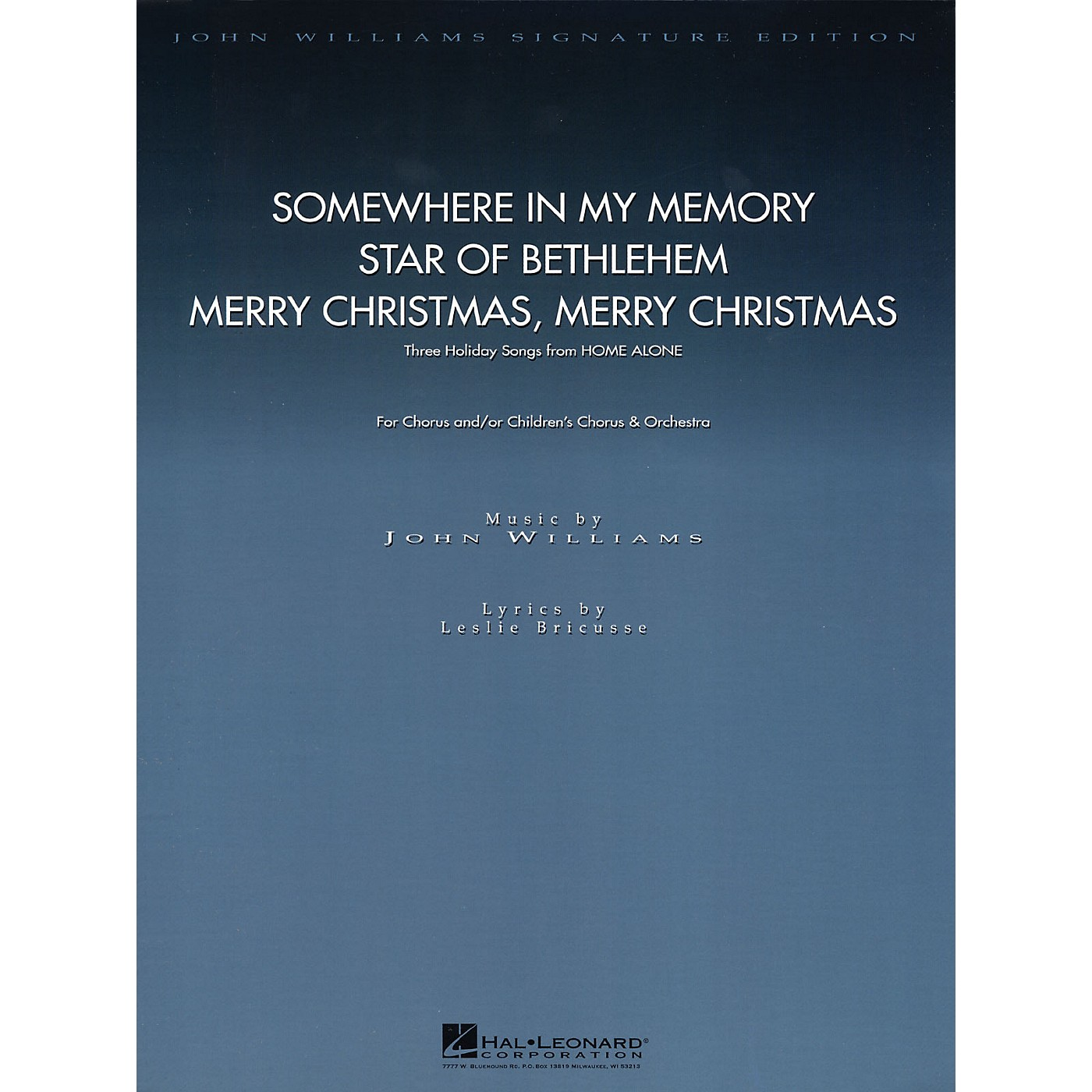 Hal Leonard Three Holiday Songs from Home Alone (Score and Parts) Composed by John Williams thumbnail