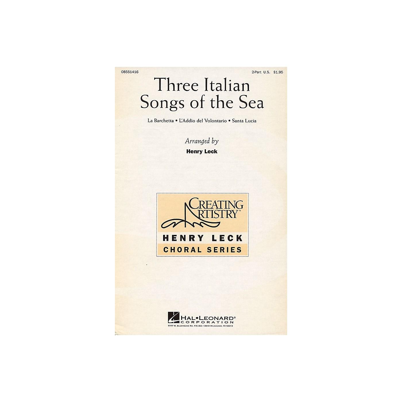 Hal Leonard Three Italian Songs of the Sea 2-Part arranged by Henry Leck thumbnail