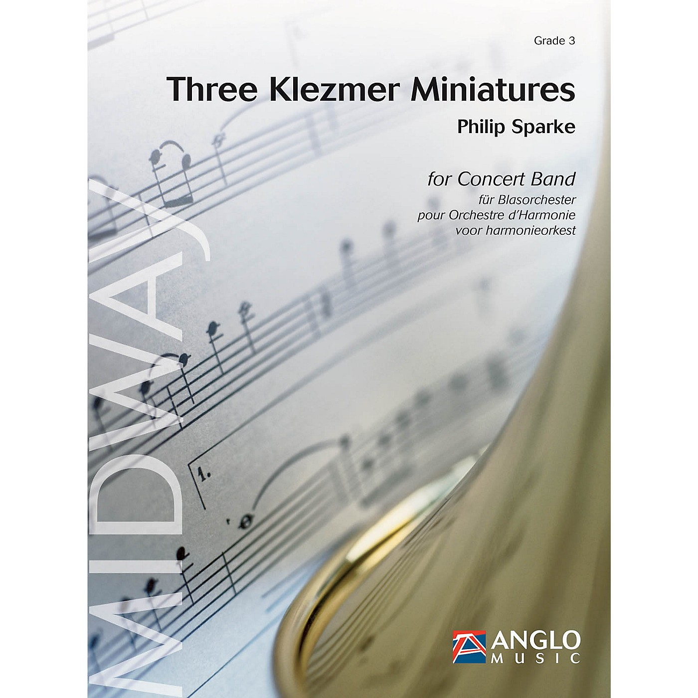 Anglo Music Press Three Klezmer Miniatures (Grade 4 - Score Only) Concert Band Level 4 Composed by Philip Sparke thumbnail