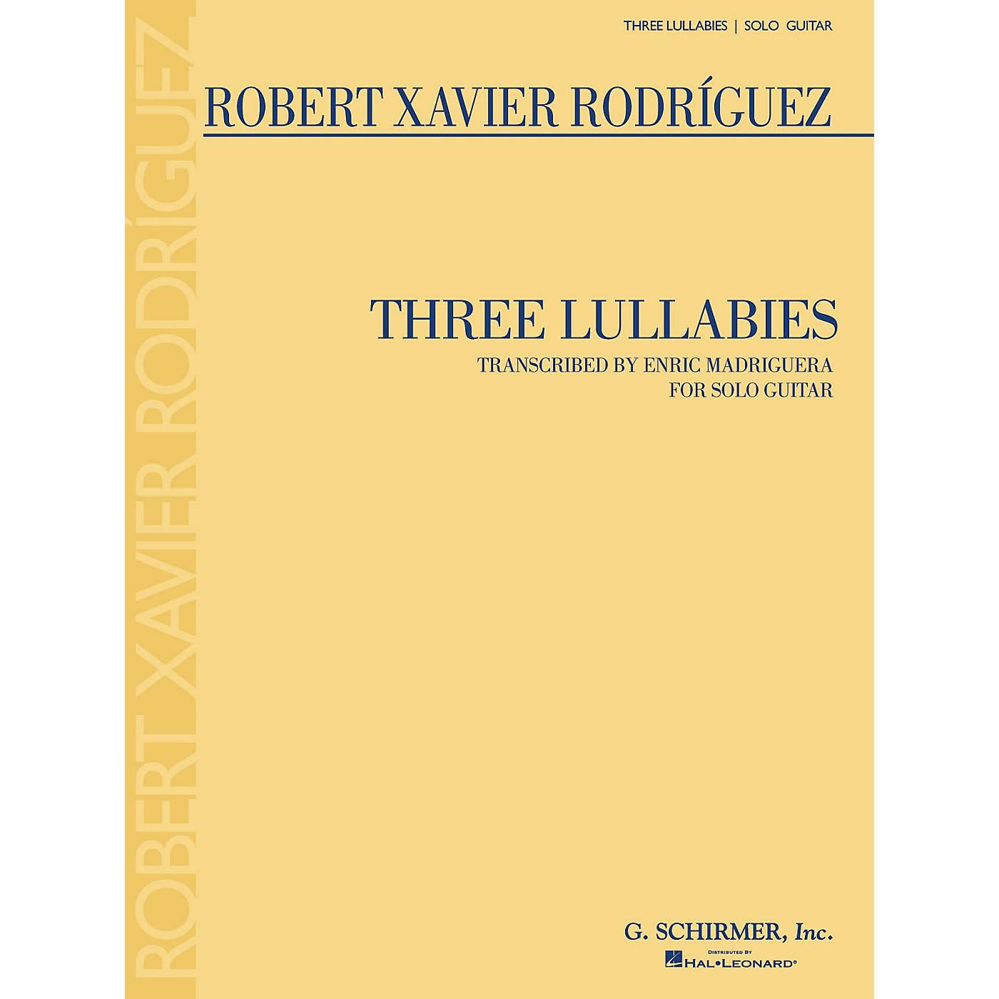 G. Schirmer Three Lullabies (for Solo Guitar) Guitar Series thumbnail