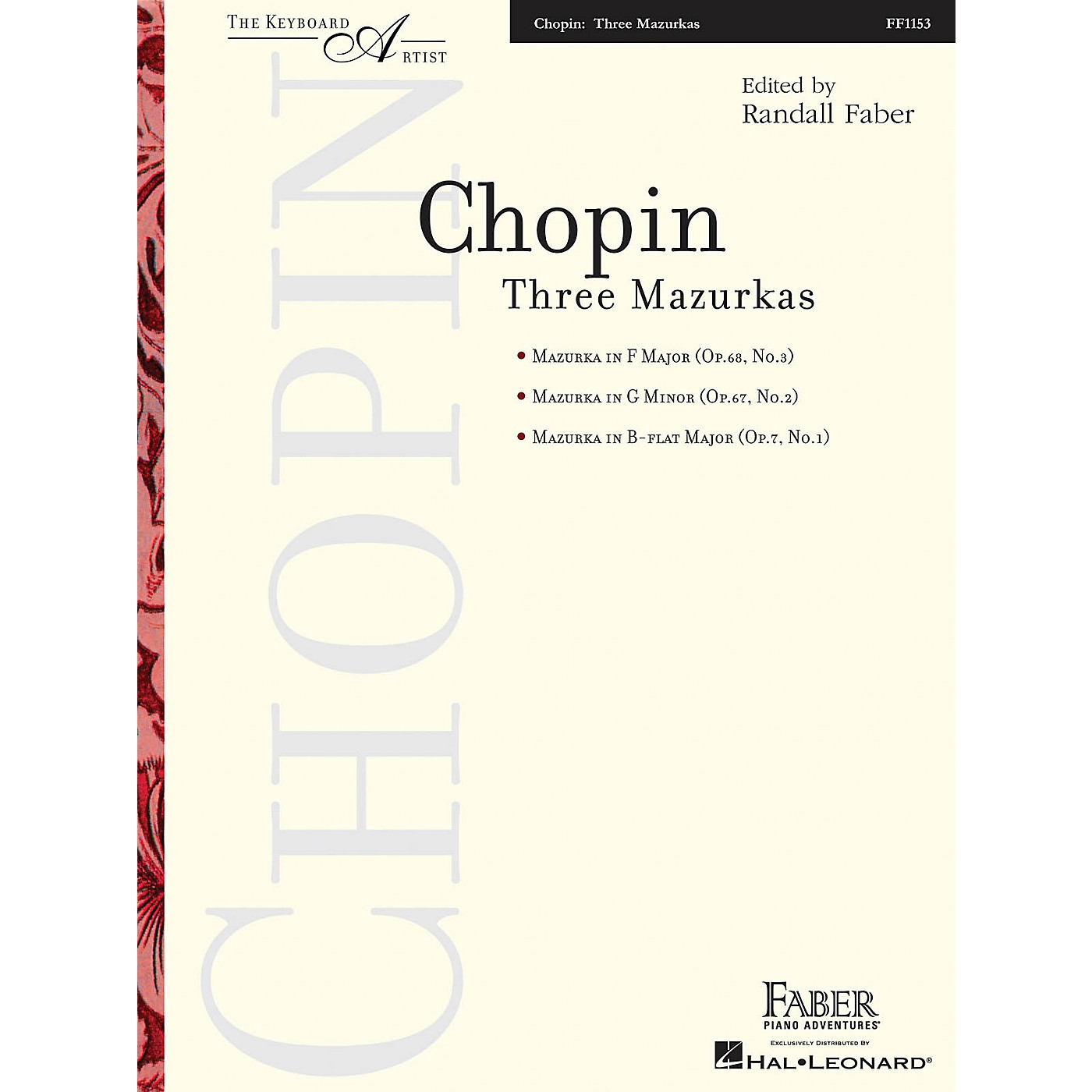 Faber Piano Adventures Three Mazurkas (The Keyboard Artist) Faber Piano Adventures Series Softcover Composed by Fredrric Chopin thumbnail