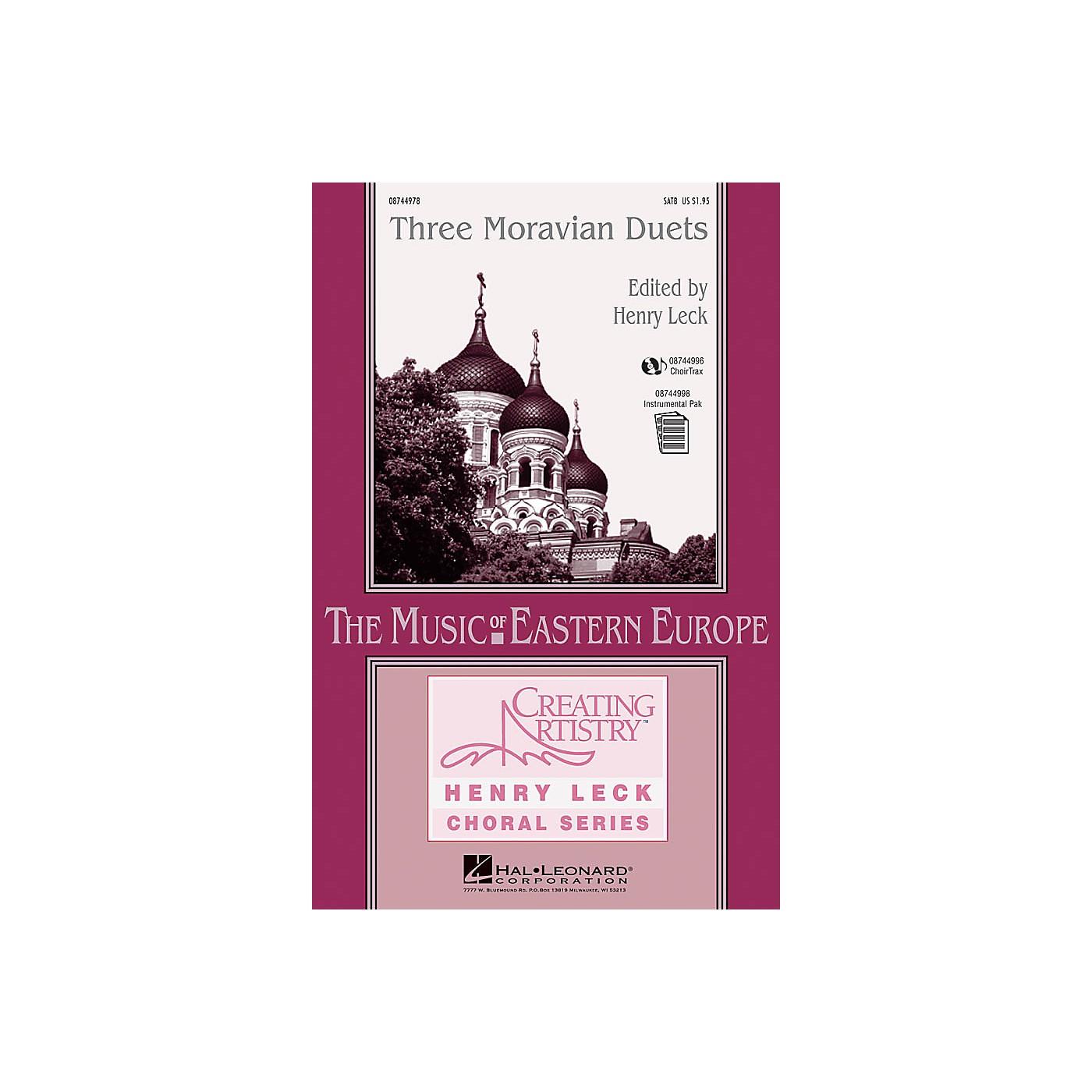 Hal Leonard Three Moravian Duets SATB composed by Antonín Dvorák thumbnail
