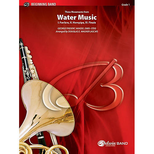 Alfred Three Movements from Water Music Concert Band Grade 1 Set thumbnail