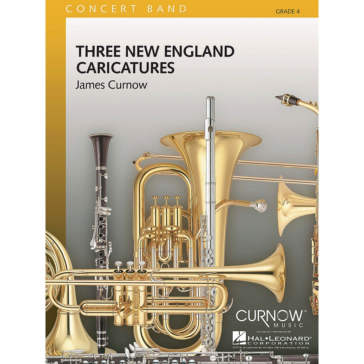 Curnow Music Three New England Caricatures (Grade 4 - Score Only) Concert Band Level 4 Composed by James Curnow thumbnail