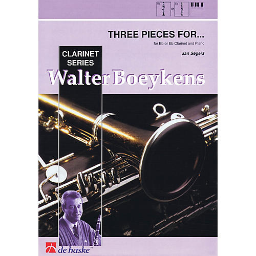 Hal Leonard Three Pieces For B Flat E Flat Clarinet And Piano 3 Pieces Concert Band thumbnail
