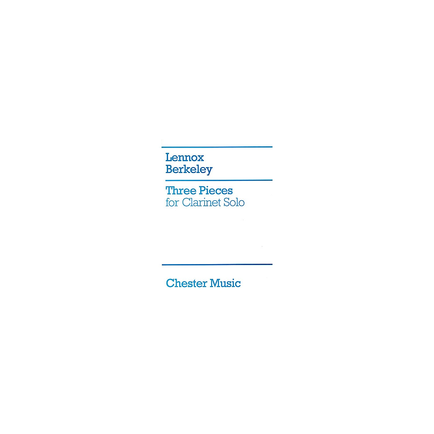 Chester Music Three Pieces for Clarinet Solo Music Sales America Series thumbnail