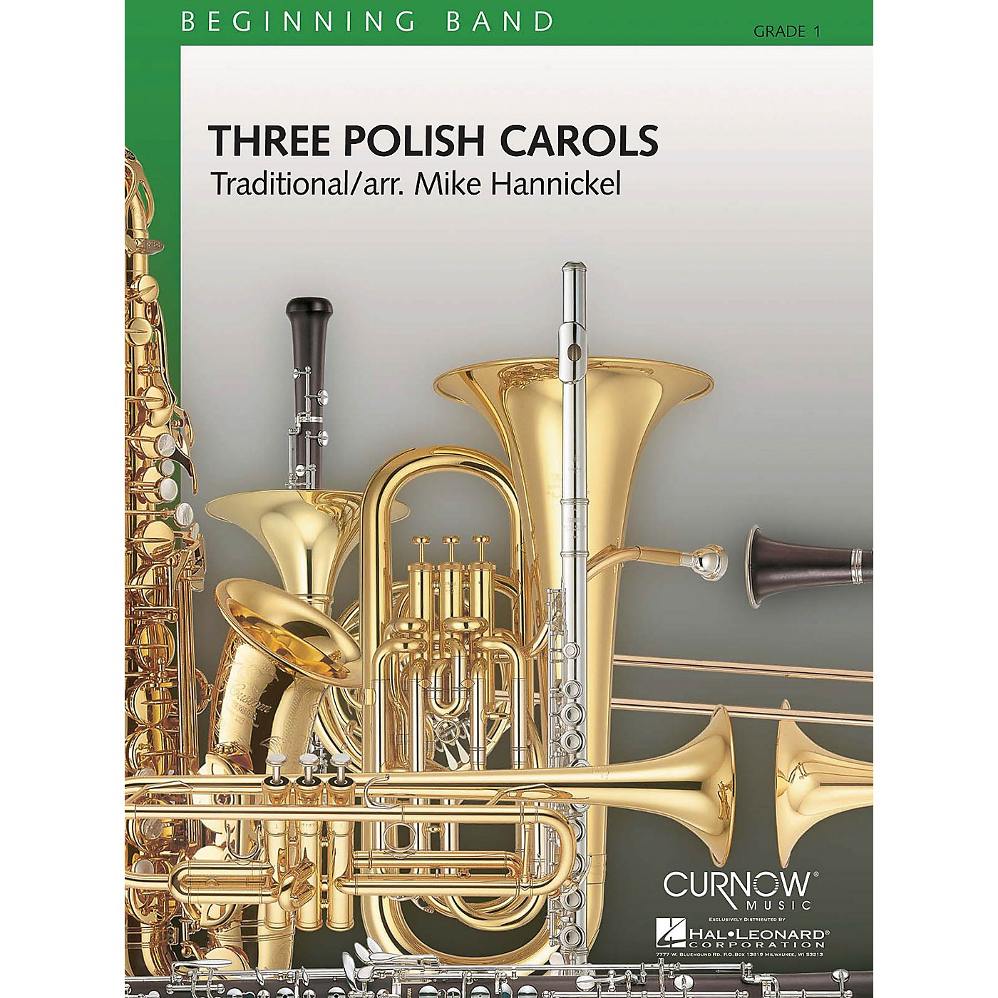 Curnow Music Three Polish Carols (Grade 1 - Score Only) Concert Band Level 1 Composed by Mike Hannickel thumbnail