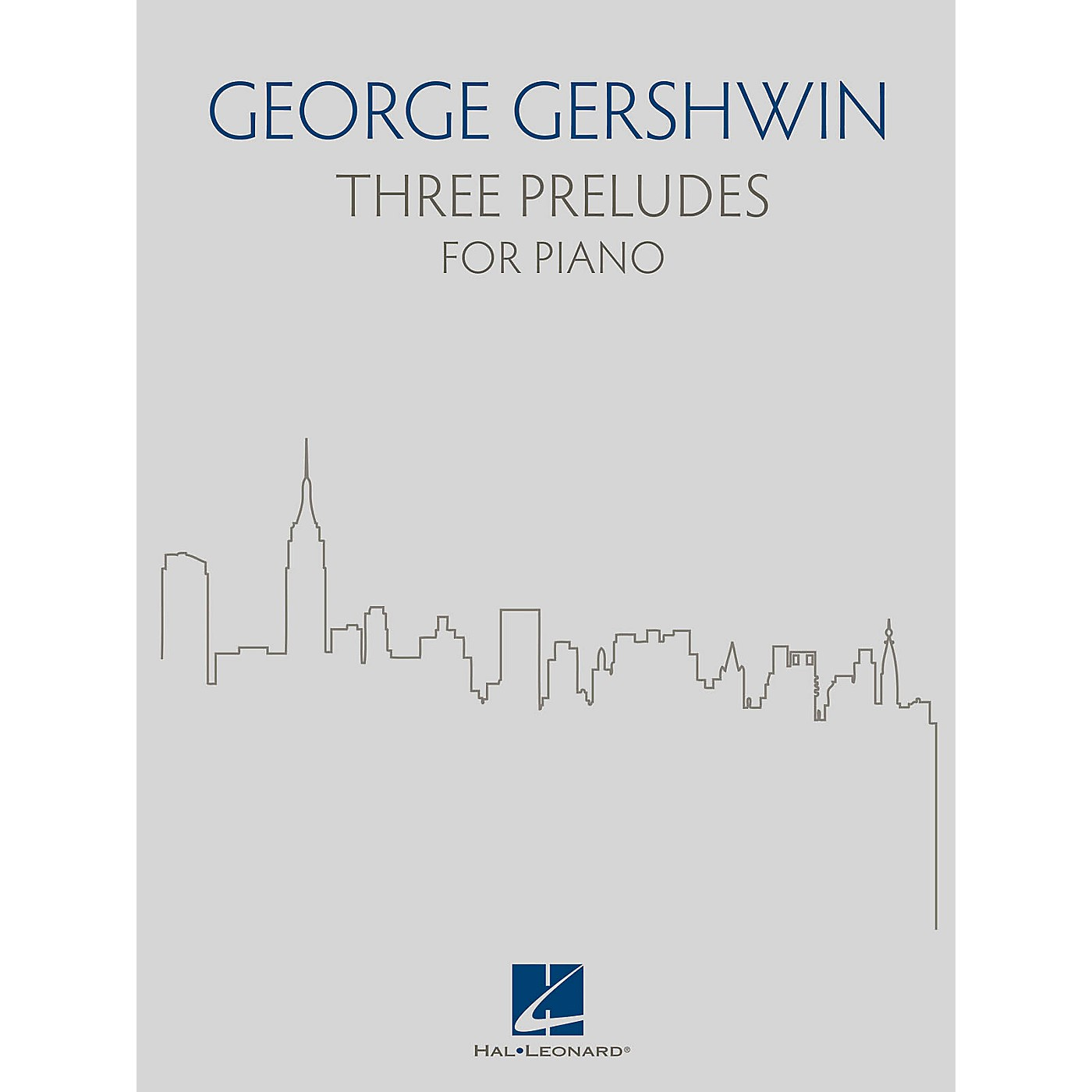 Hal Leonard Three Preludes for Piano by Gershwin thumbnail