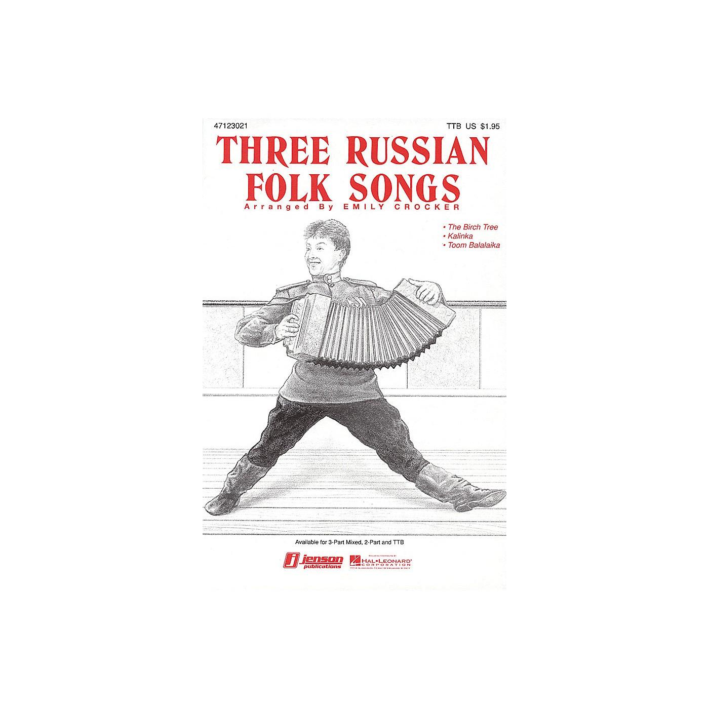 Hal Leonard Three Russian Folk Songs (Medley) 2-Part Arranged by Emily Crocker thumbnail