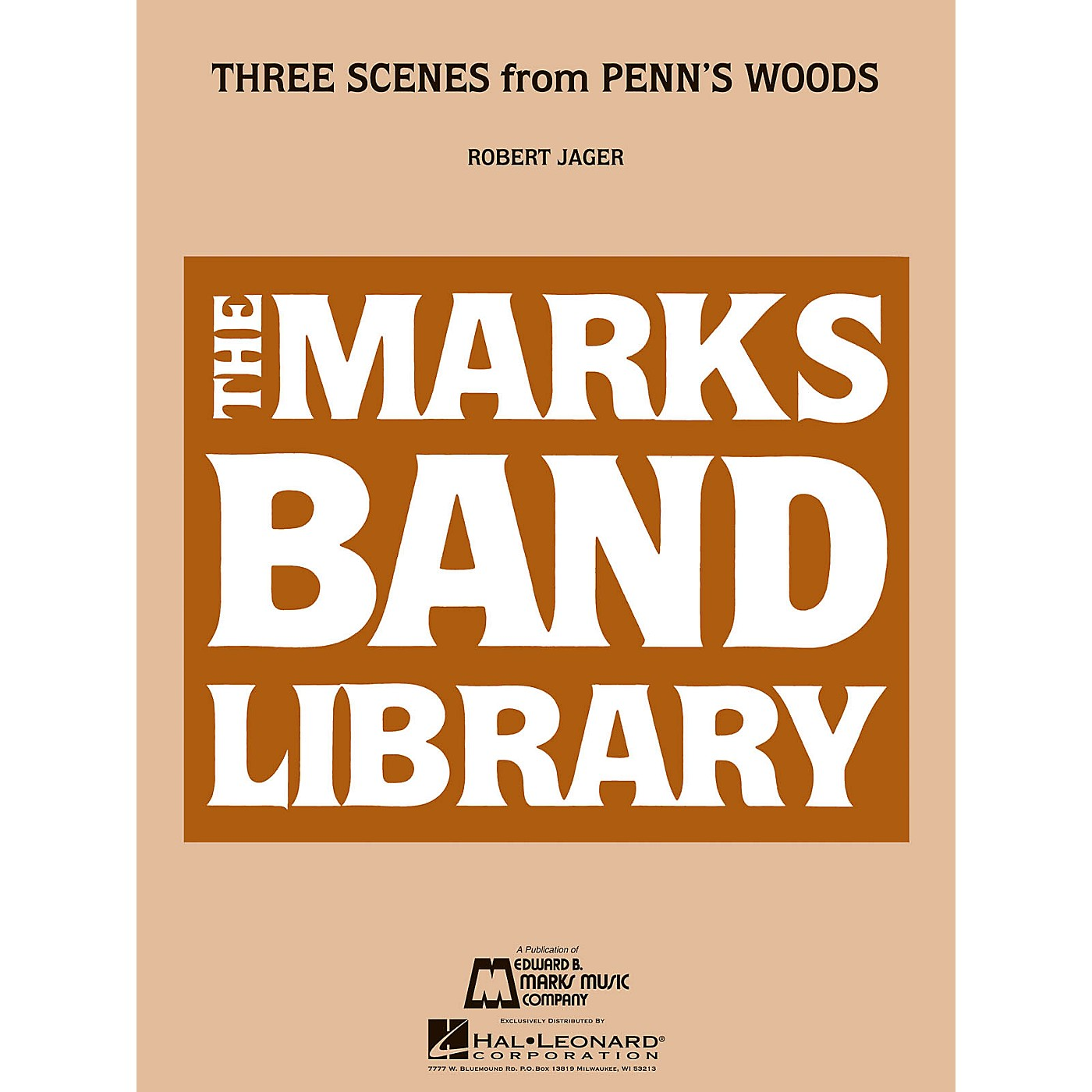 Edward B. Marks Music Company Three Scenes from Penn's Woods Concert Band Level 3 Composed by Robert Jager thumbnail