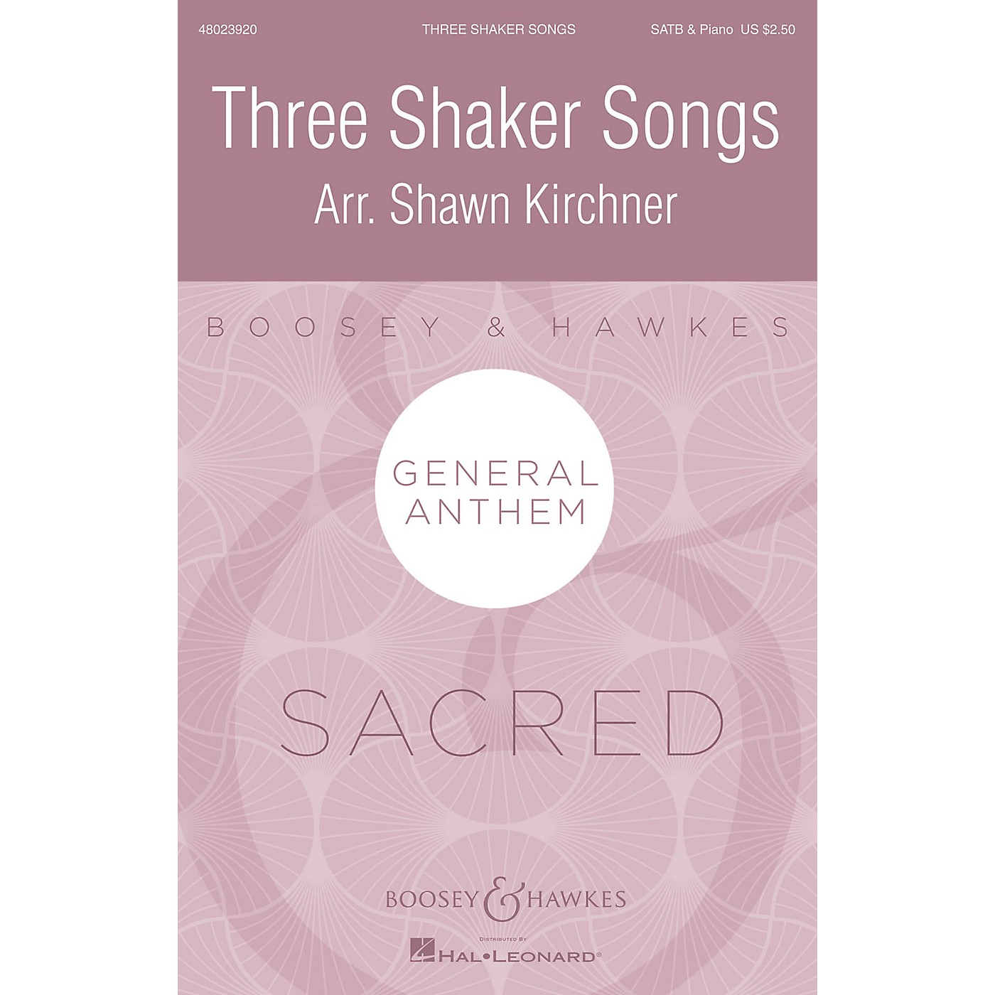 Boosey and Hawkes Three Shaker Songs SATB arranged by Shawn Kirchner thumbnail