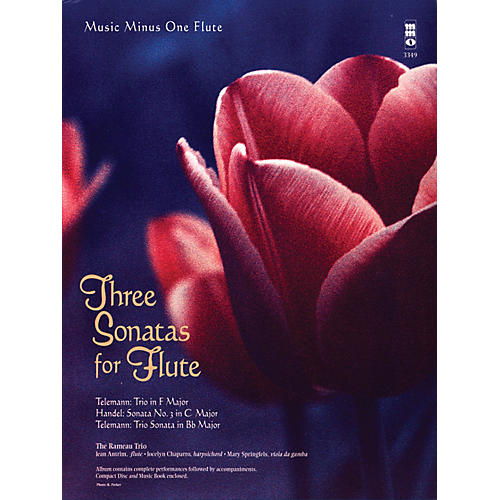 Music Minus One Three Sonatas for Flute Music Minus One Series Softcover with CD Composed by Various thumbnail