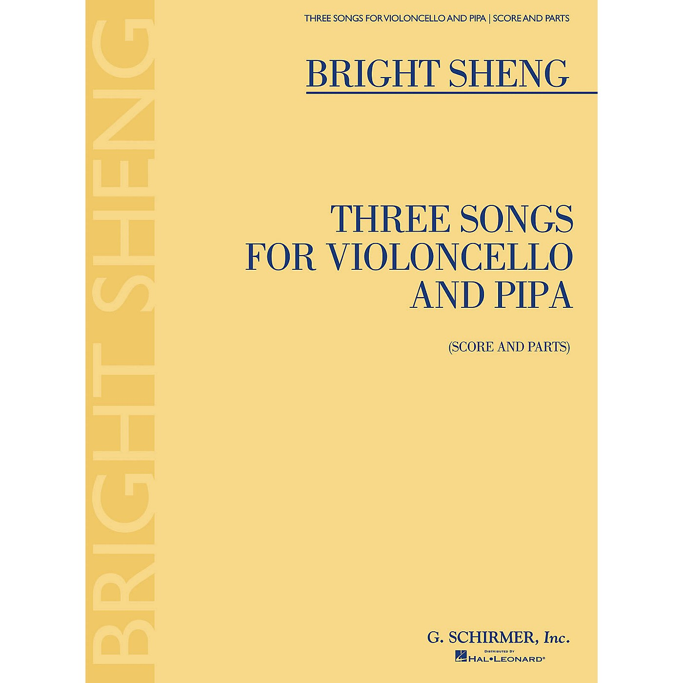 G. Schirmer Three Songs for Violoncello and Pipa (Score and Parts) String Solo Series Softcover thumbnail