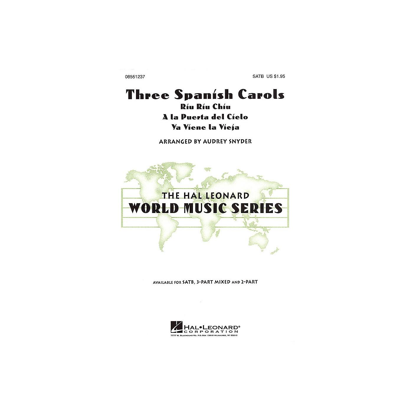 Hal Leonard Three Spanish Carols 3-Part Mixed Arranged by Audrey Snyder thumbnail