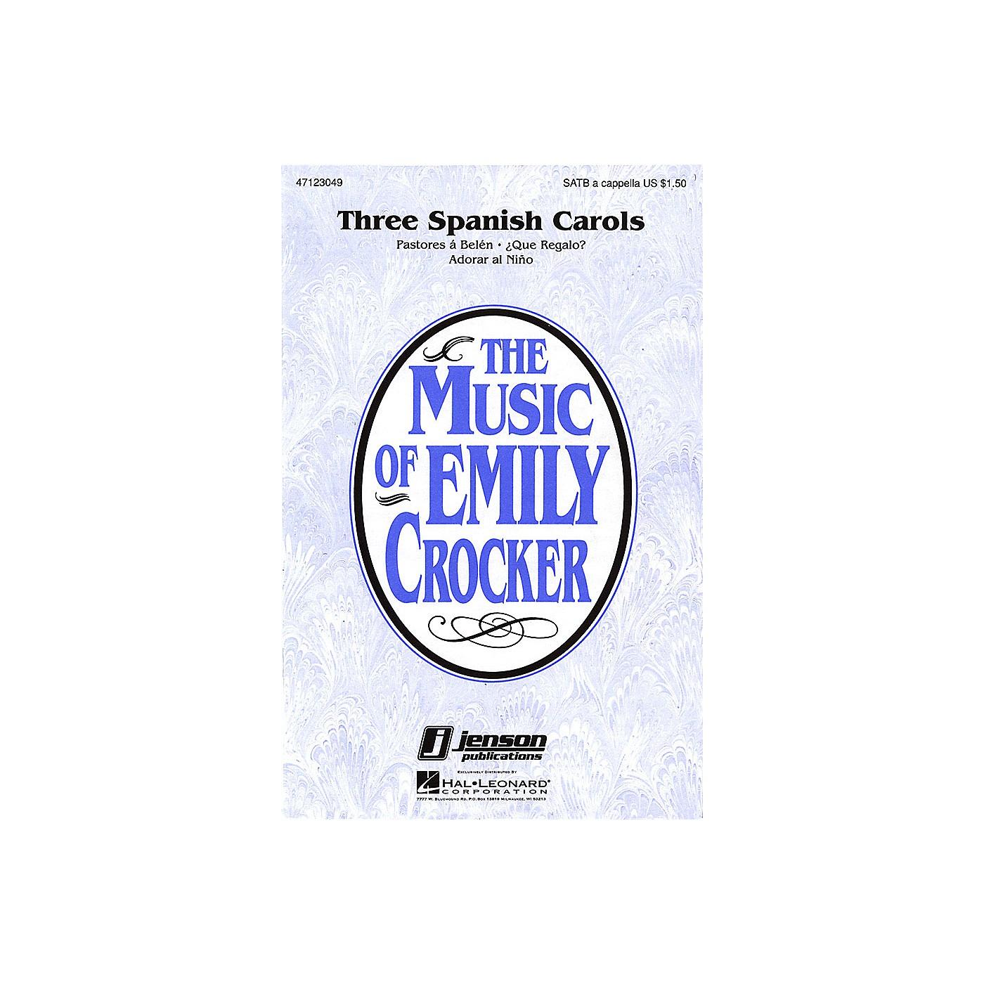 Hal Leonard Three Spanish Carols (Collection) SATB a cappella arranged by Emily Crocker thumbnail