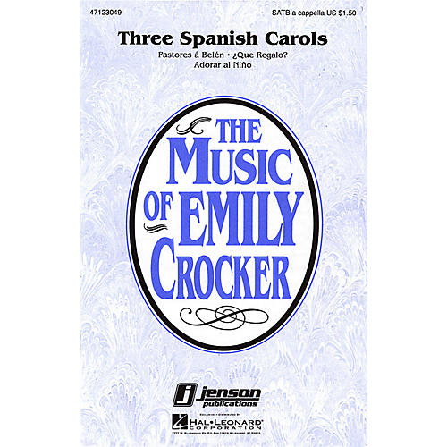 Hal Leonard Three Spanish Carols (Collection) SATB a cappella arranged by Emily Crocker thumbnail