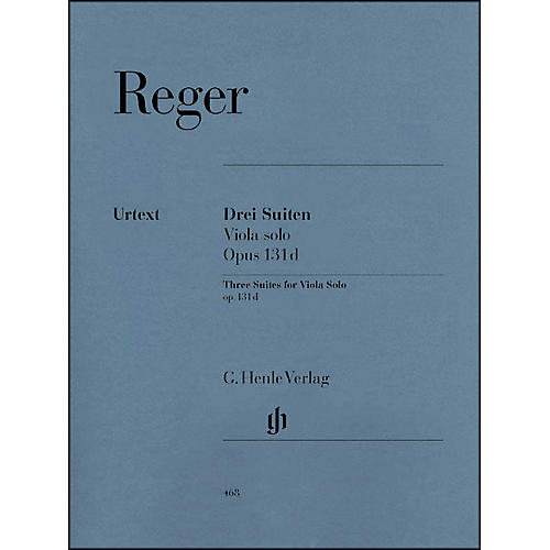 G. Henle Verlag Three Suites for Viola Solo Op. 131D By Reger thumbnail