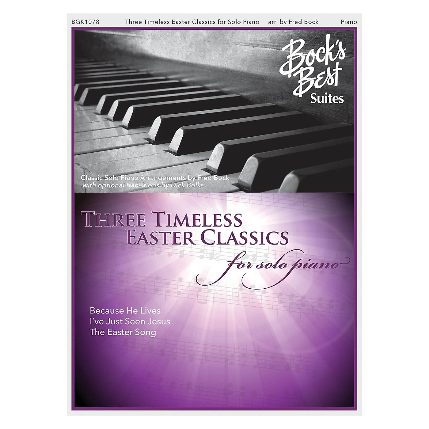 Fred Bock Music Three Timeless Easter Favorites For Solo Piano PIANO SOLO arranged by Fred Bock thumbnail
