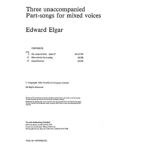 Novello Three Unaccompanied Part-Songs for Mixed Voices SATB thumbnail