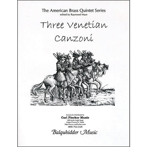Carl Fischer Three Venetian Canzoni Book thumbnail