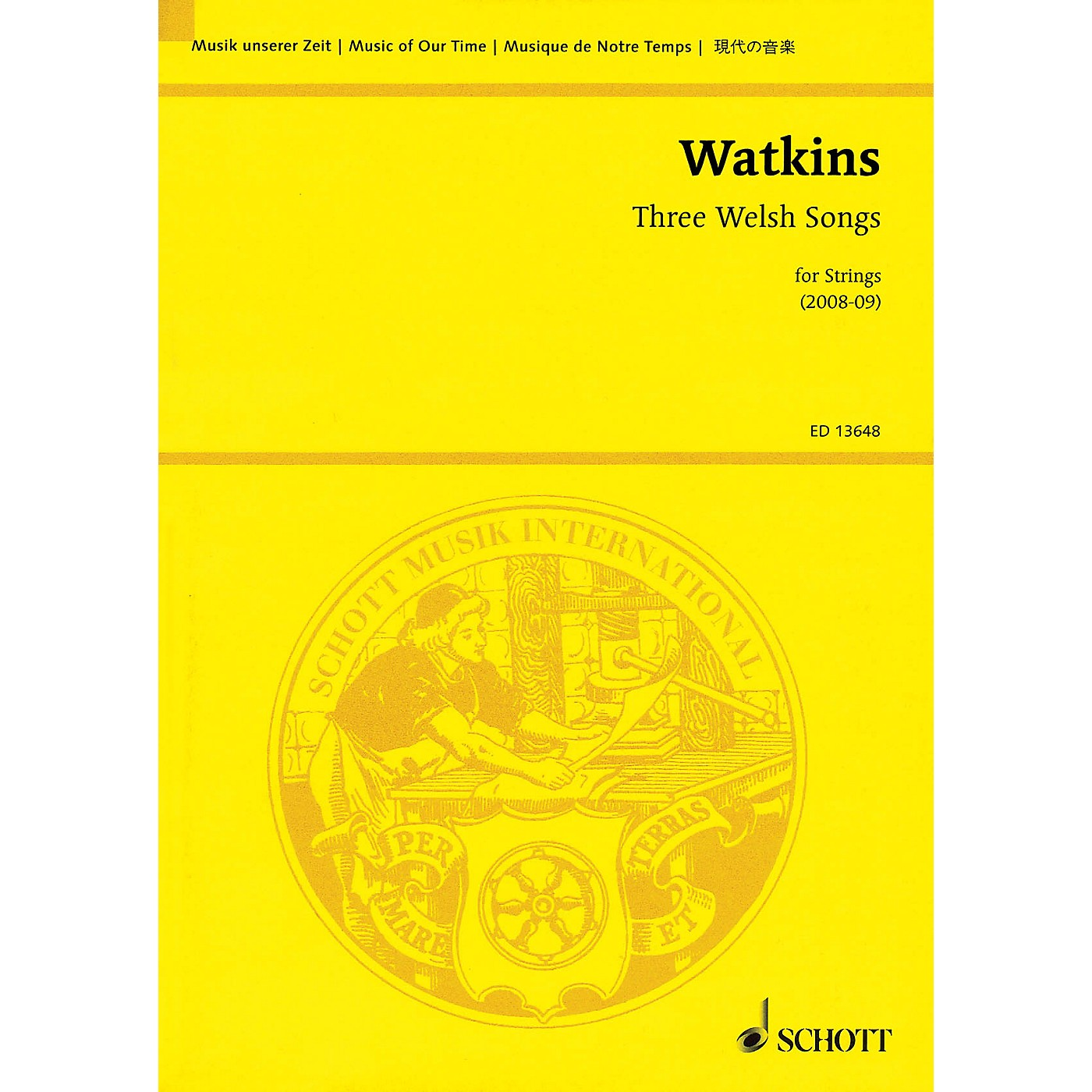 Schott Three Welsh Songs for Strings Study Score Series Softcover Composed by Huw Watkins thumbnail