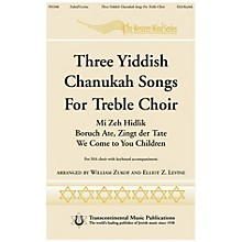 Transcontinental Music Three Yiddish Chanukah Songs for Treble Choir SSA