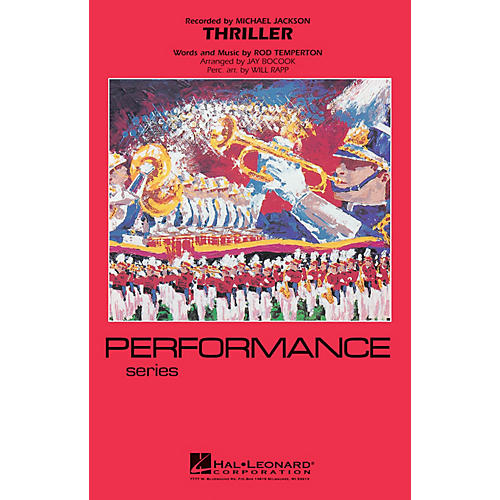 Hal Leonard Thriller Marching Band Level 3-4 by Michael Jackson Arranged by Jay Bocook thumbnail
