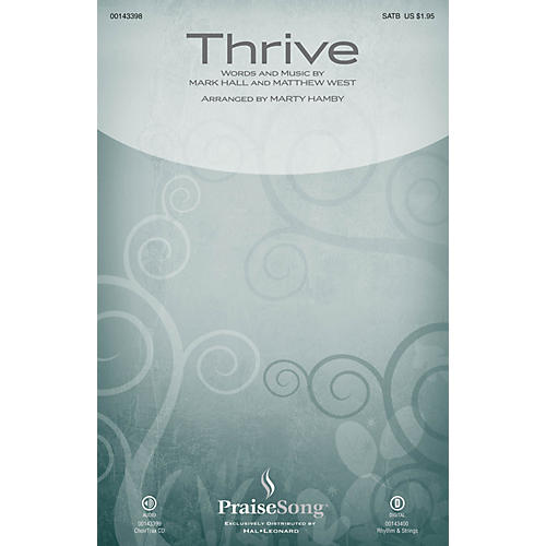 PraiseSong Thrive SATB by Casting Crowns arranged by Marty Hamby thumbnail