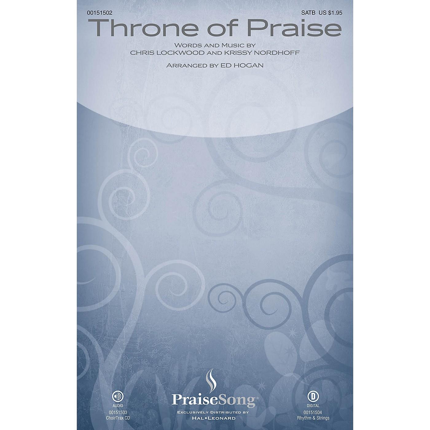 PraiseSong Throne of Praise CHOIRTRAX CD by Phillips, Craig and Dean Arranged by Ed Hogan thumbnail