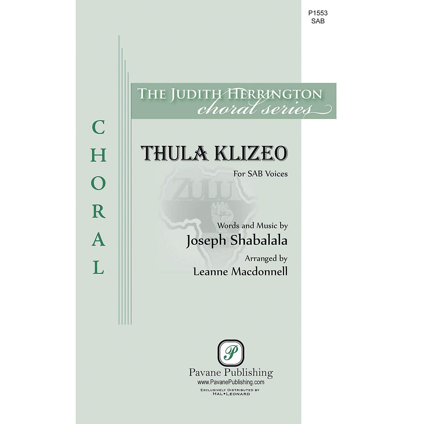 Pavane Thula Klizeo SAB arranged by Leanne McDonnell thumbnail