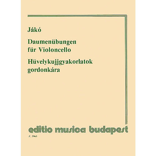 Editio Musica Budapest Thumb Exercises - Violoncello EMB Series thumbnail