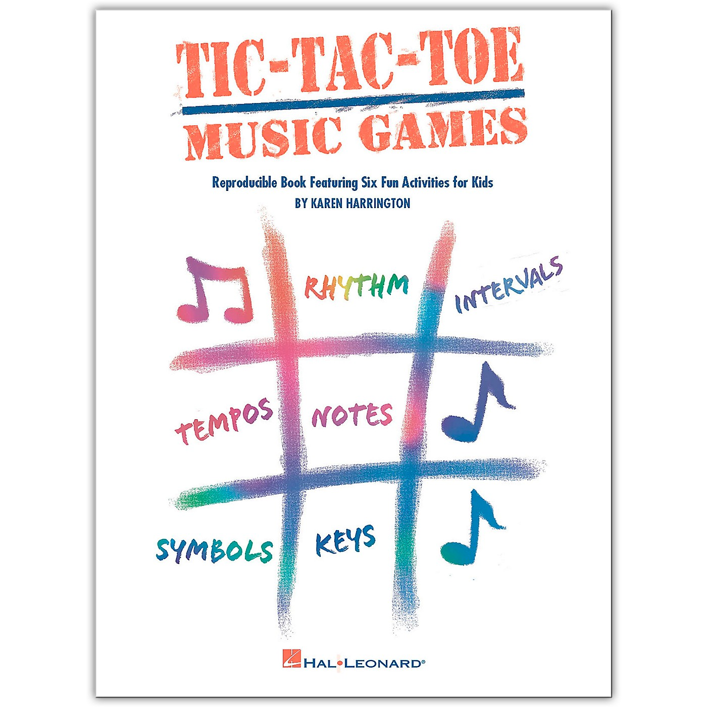 Hal Leonard Tic-Tac-Toe Music Games Reproducible Book Featuring Six Fun Activities For Kids by Harrington thumbnail