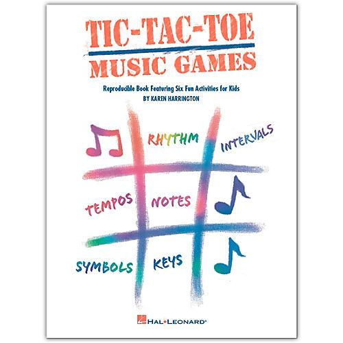 Hal Leonard Tic-Tac-Toe Music Games Reproducible Book Featuring Six Fun Activities For Kids by Harrington thumbnail