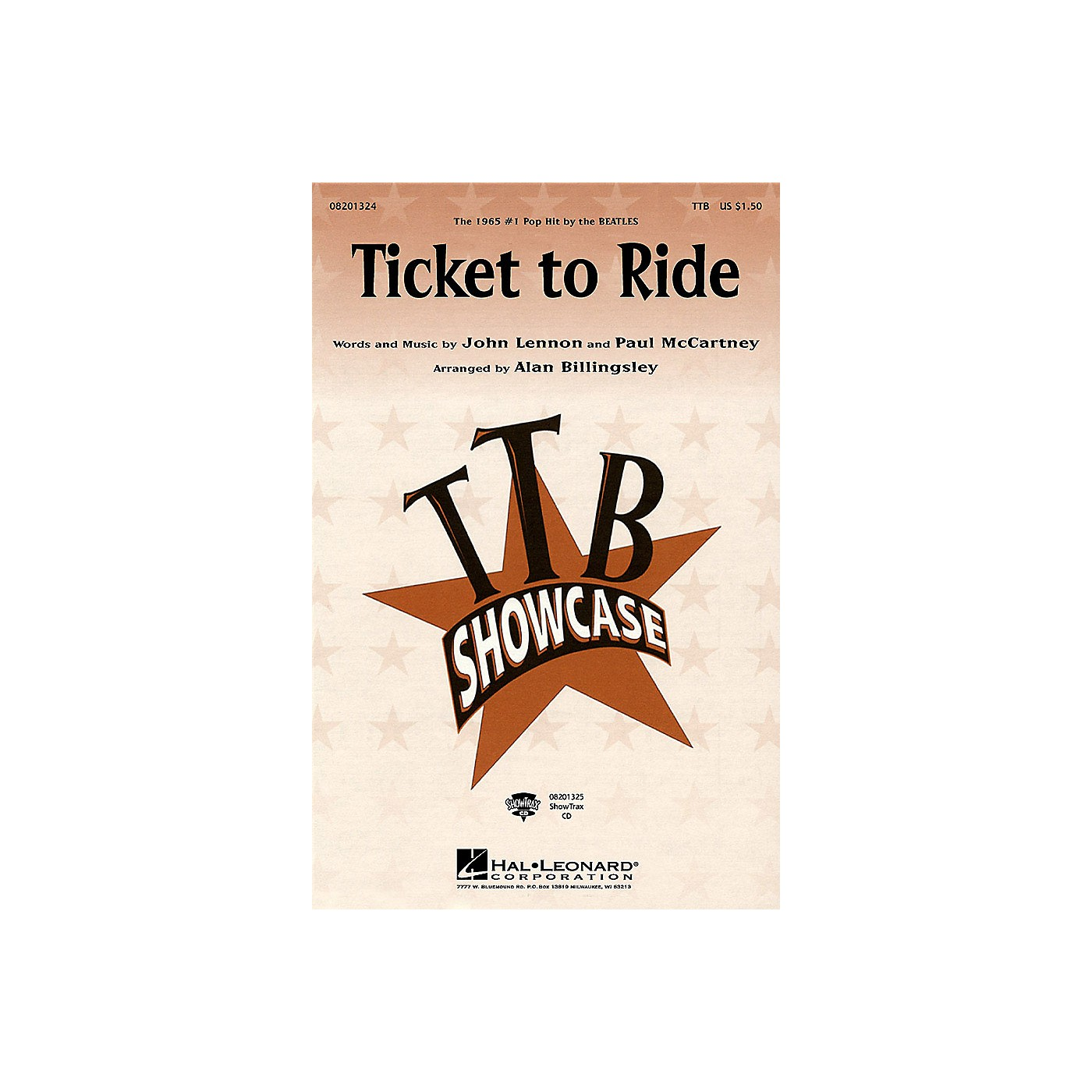 Hal Leonard Ticket to Ride TTB by The Beatles arranged by Alan Billingsley thumbnail