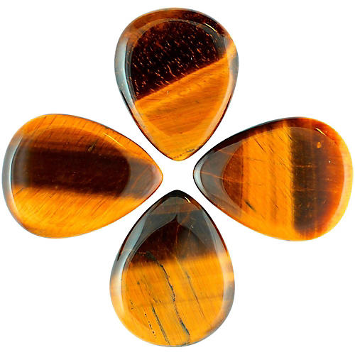 Timber Tones Tiger Tones Gold Tiger Eye Single Plectrum Guitar Pick thumbnail
