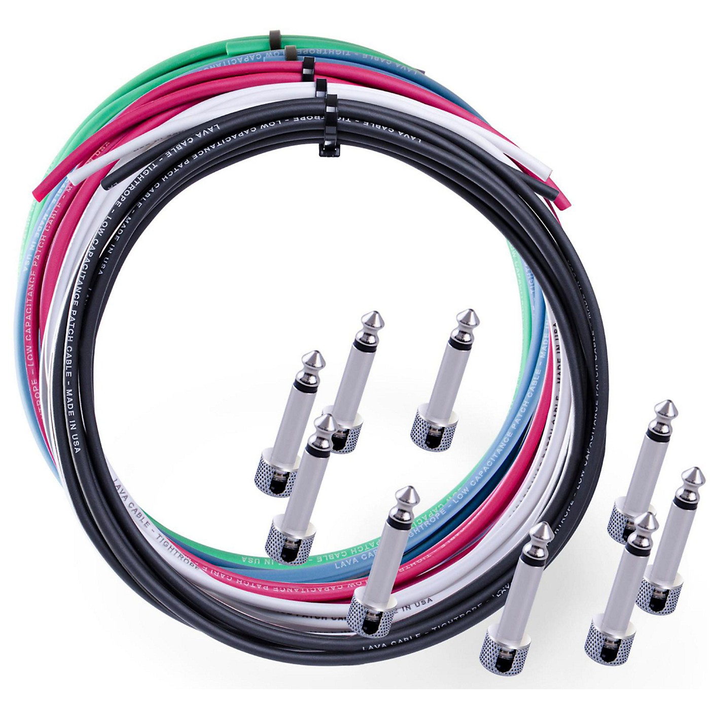 Lava Tightrope Solder-Free Cable Kit with 10 Right Angle Plugs thumbnail