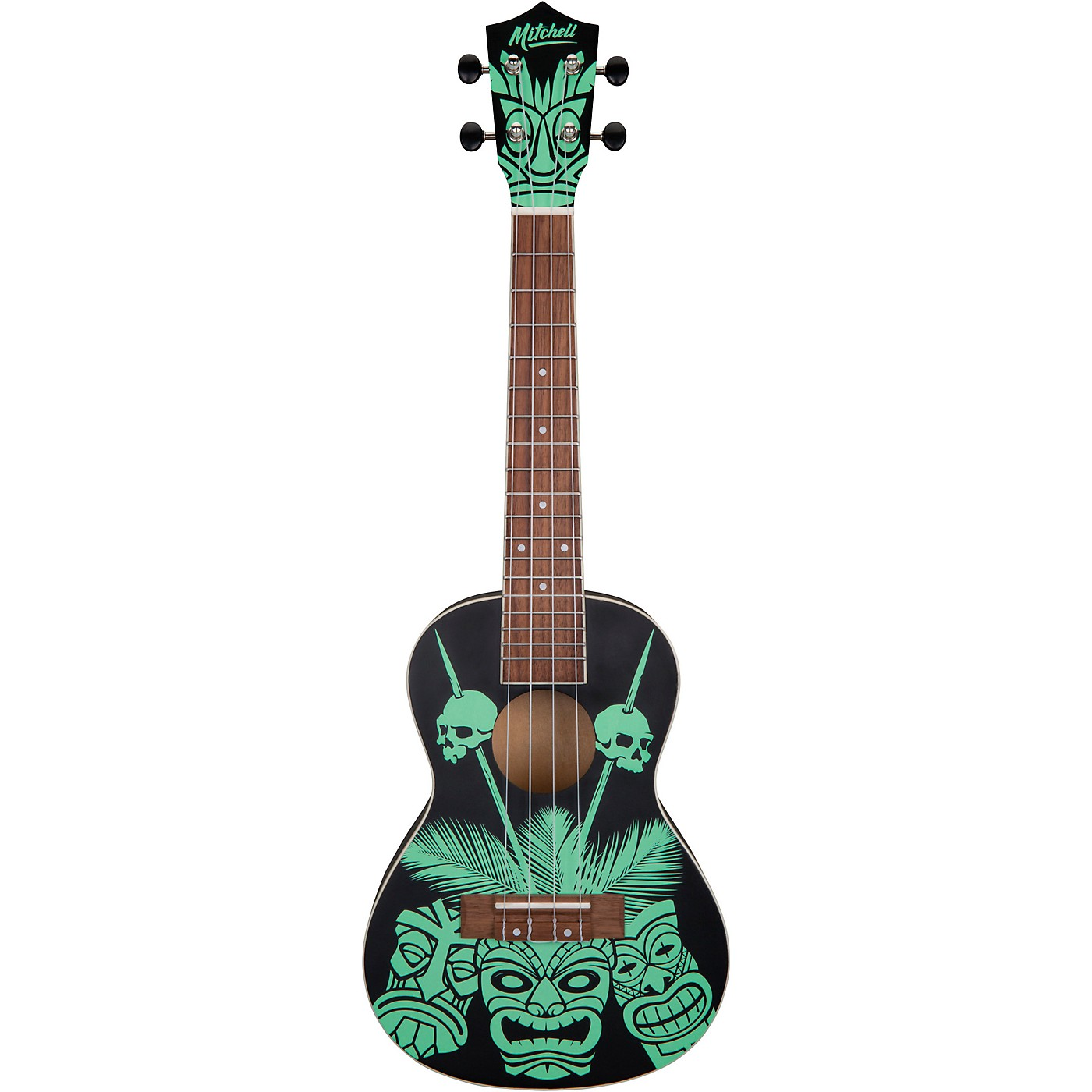 Mitchell Tiki Glow In The Dark Ukulele thumbnail