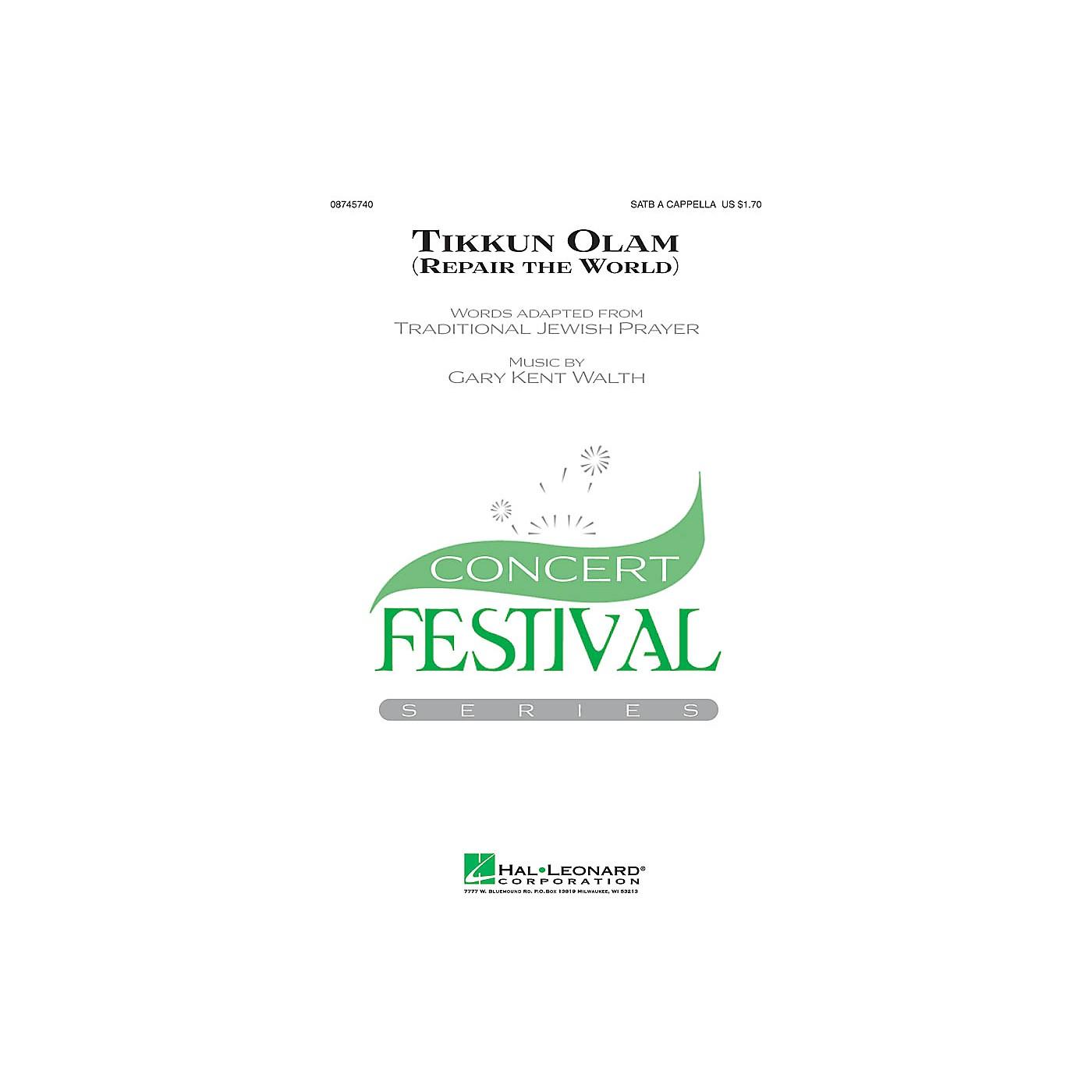 Hal Leonard Tikkun Olam SATB a cappella composed by Gary Walth thumbnail