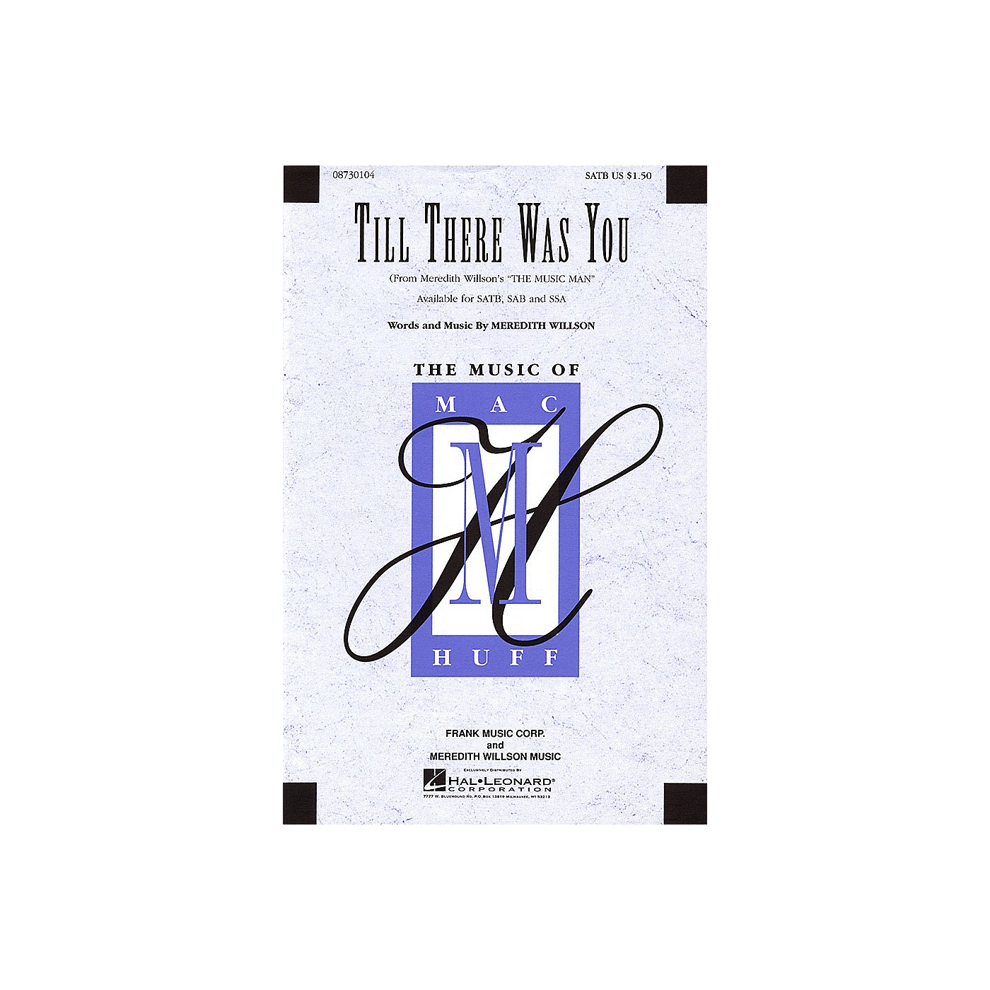 Hal Leonard Till There Was You (from Meredith Willson's The Music Man) SSA Arranged by Mac Huff thumbnail