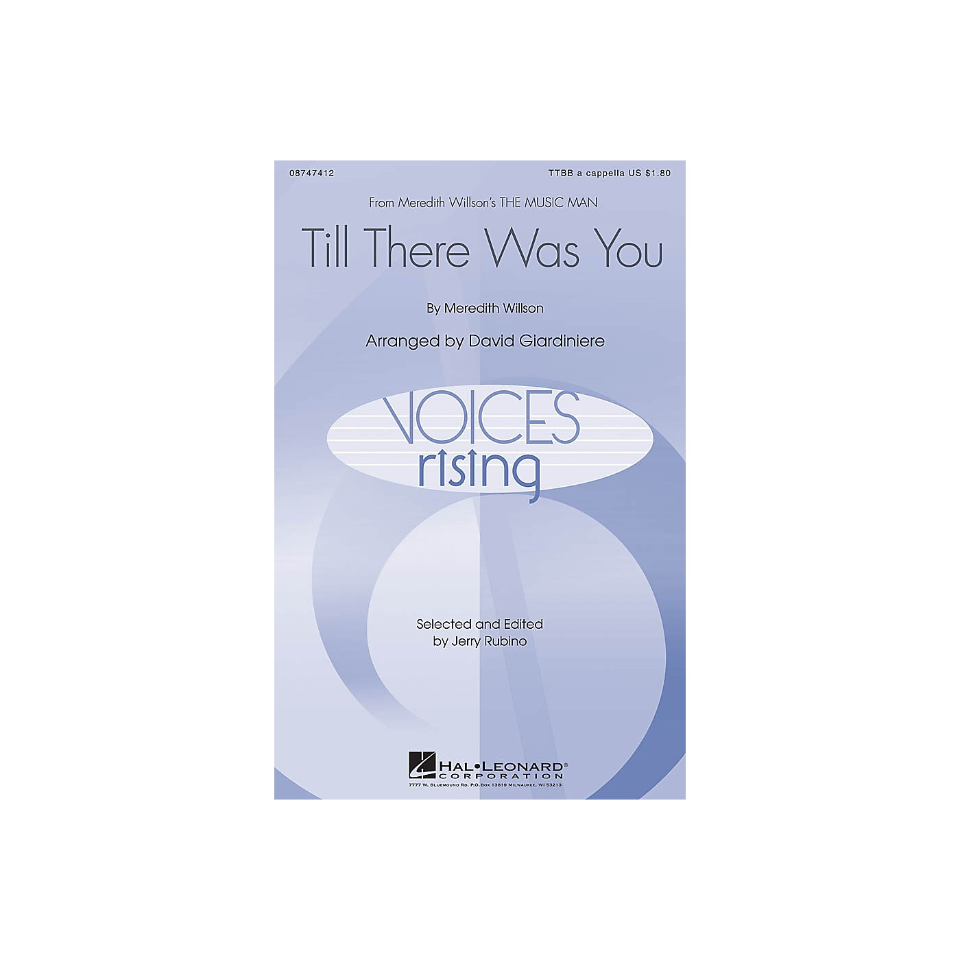 Hal Leonard Till There Was You (from The Music Man) TTBB A Cappella arranged by David Giardiniere thumbnail
