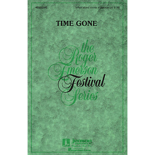 Hal Leonard Time Gone 3-Part Mixed a cappella composed by Roger Emerson thumbnail