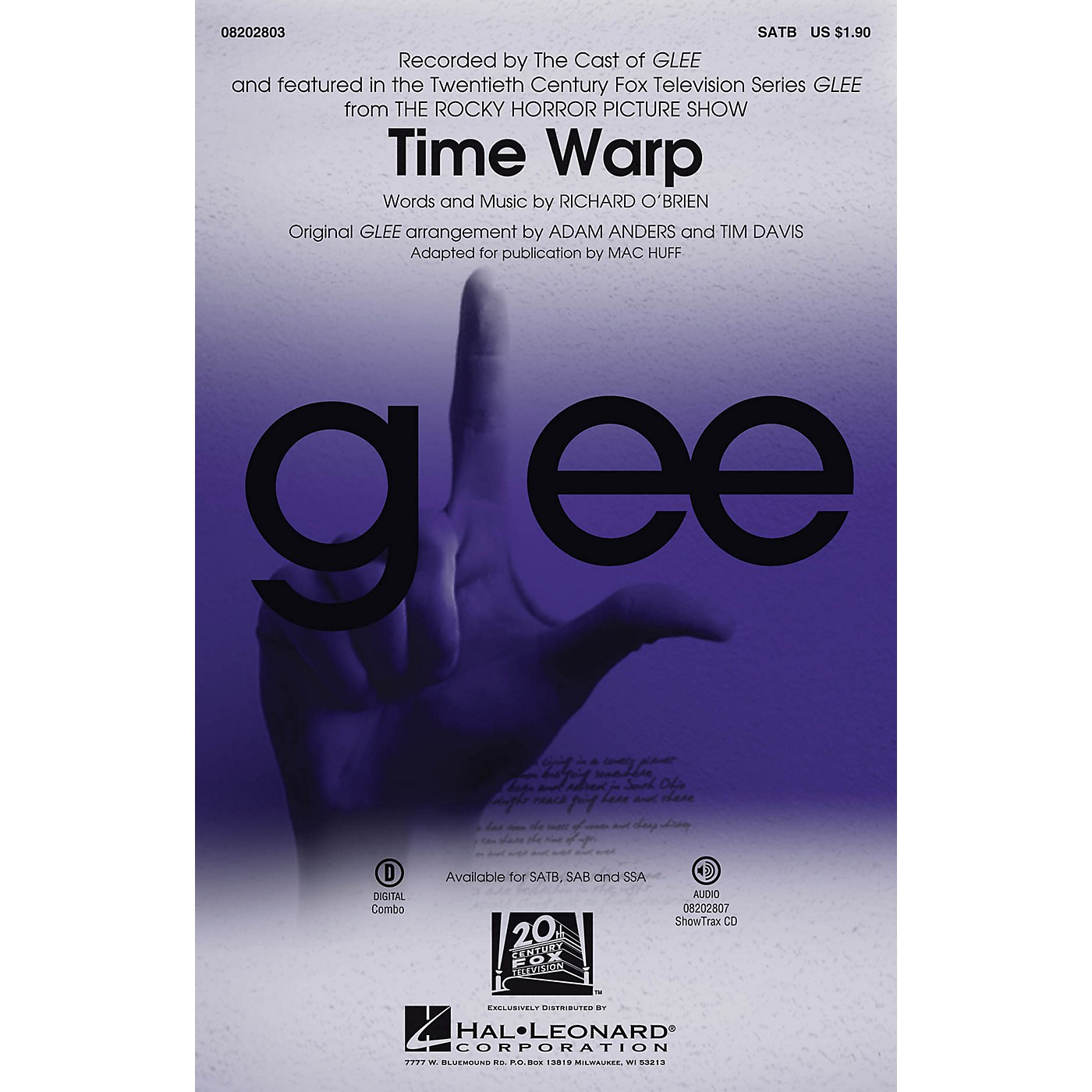 Hal Leonard Time Warp (from The Rocky Horror Picture Show) ShowTrax CD by Glee Cast Arranged by Mac Huff thumbnail