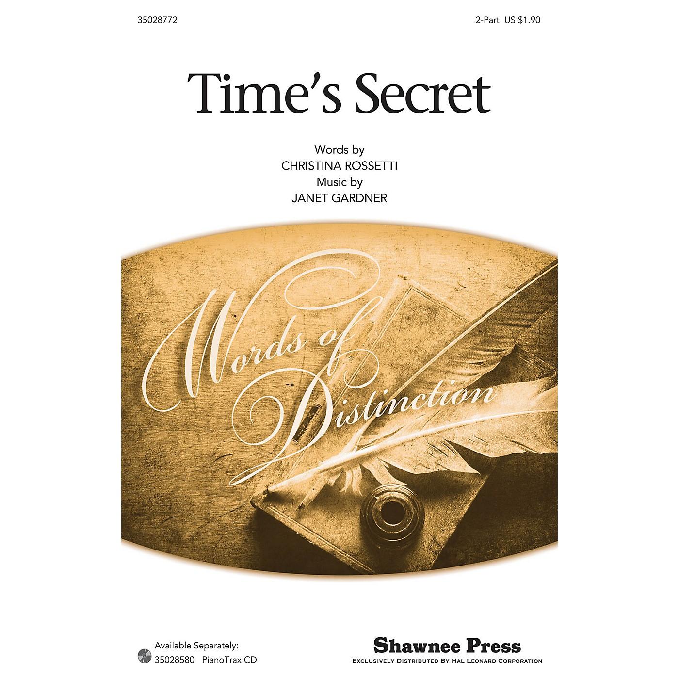 Shawnee Press Time's Secret 2-Part arranged by Janet Gardner thumbnail