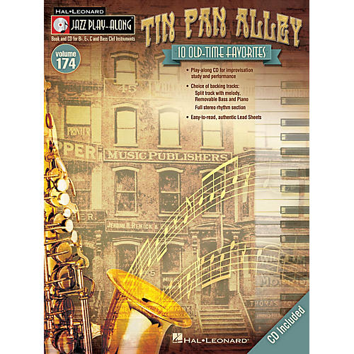 Hal Leonard Tin Pan Alley (Jazz Play-Along Volume 174) Jazz Play Along Series Softcover with CD Composed by Various thumbnail