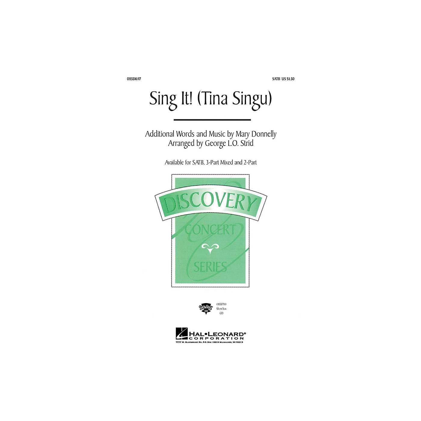 Hal Leonard Tina Singu (Sing It!) 3-Part Mixed Composed by Mary Donnelly thumbnail