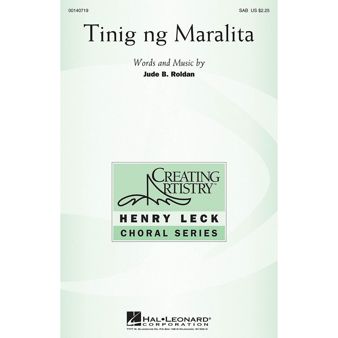Hal Leonard Tinig ng Maralita SAB composed by Jude Roldan thumbnail