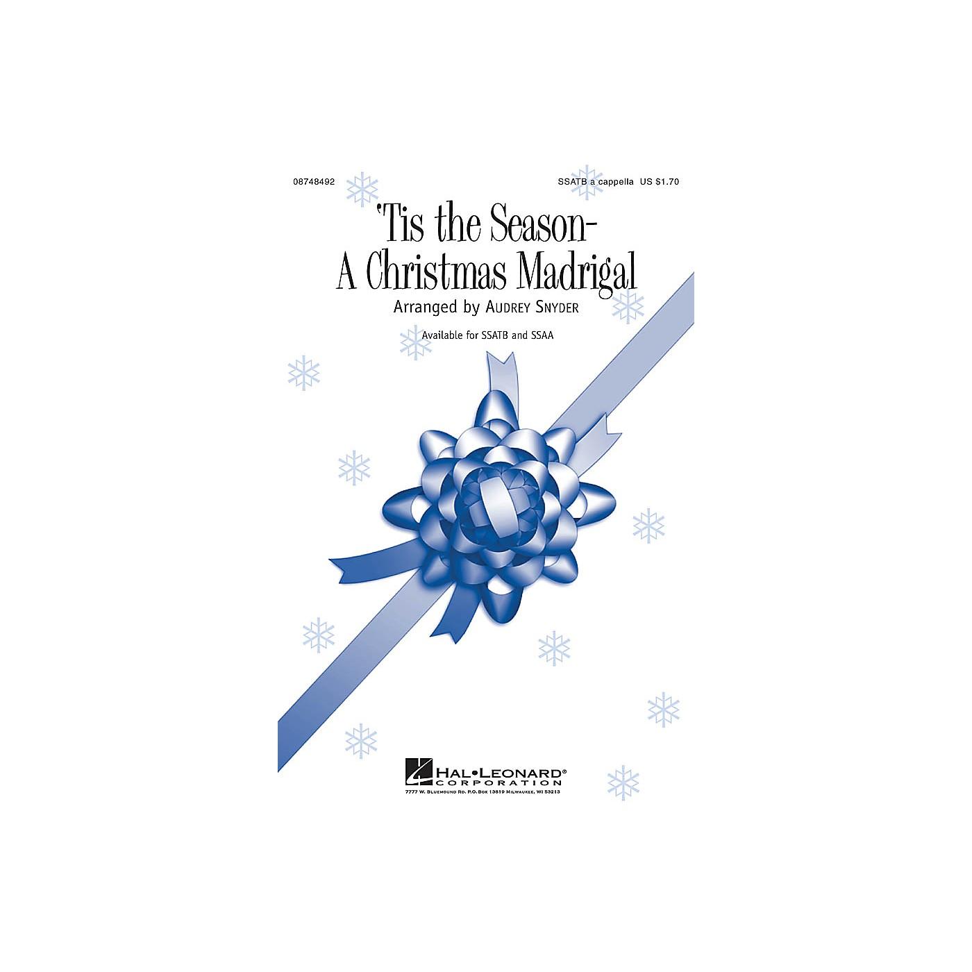 Hal Leonard Tis the Season - A Christmas Madrigal SSATB A Cappella arranged by Audrey Snyder thumbnail