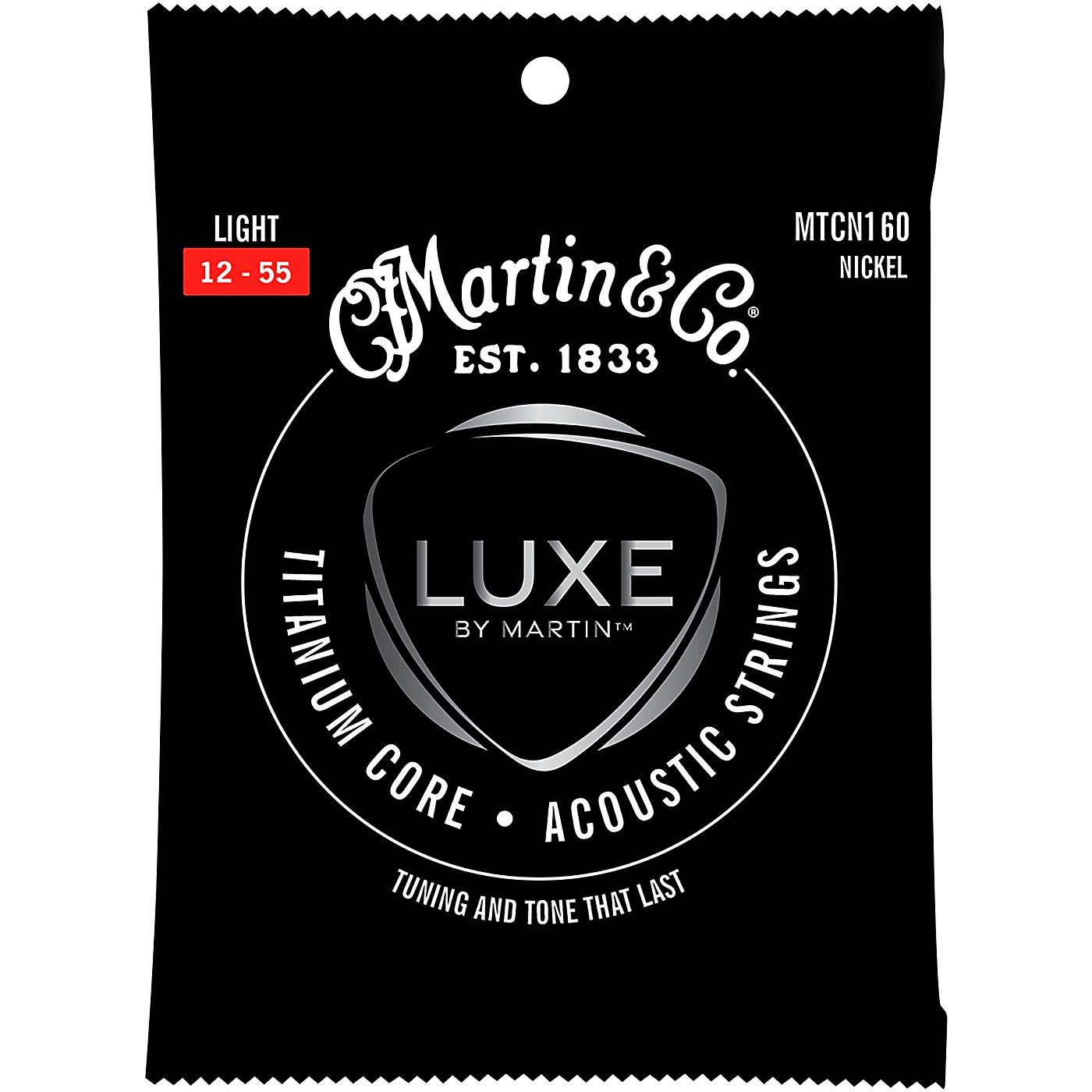 Martin Titanium Core Acoustic Guitar Strings Nickel Wrap Light Tension thumbnail
